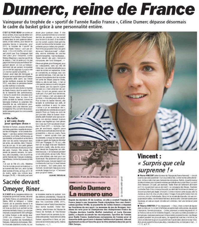 Celine Dumerc Lequipe