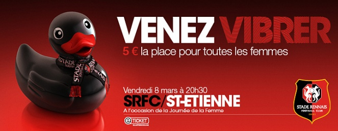 affiche football rennes femmes supportrices 8 mars 2013