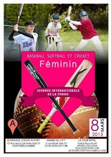 sport de batte Paris journee femme baseball softball cricket