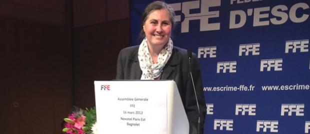 Isabelle Lamour presidente federation française escrime
