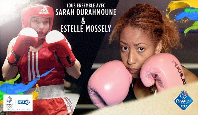 sarah ourahmoune et estelle mossely